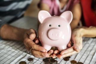 Financial Pink Piggy Bank 9-18