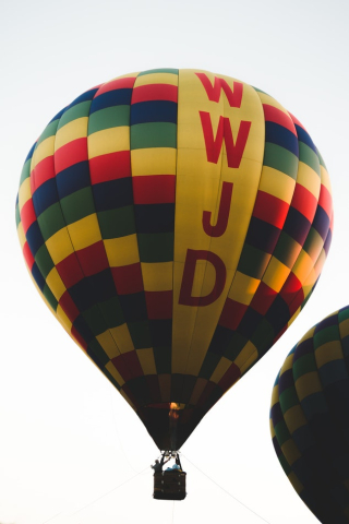 Hot air balloon with WWJD 8-18