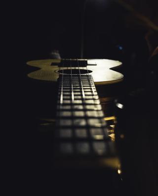 Guitar long shot over neck 8-18