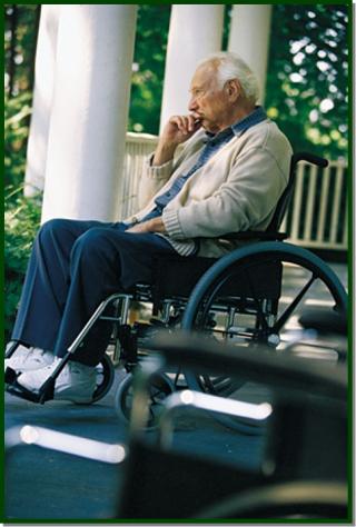 Older man in wheelchair 3-19