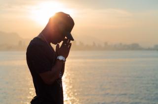 Rapper in sunset 5-19