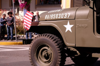 Military jeep in parade 9-19