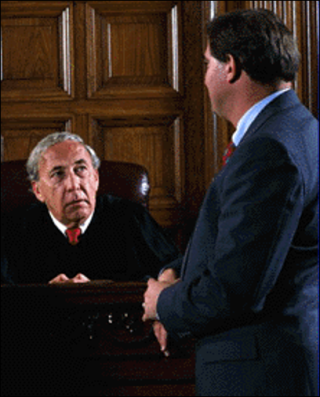 Lawyer speaking with judge 3-19