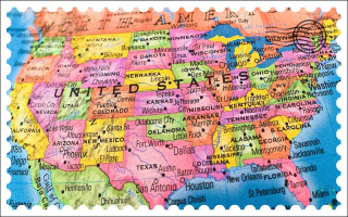 United States Map Stamp clearer 4-20